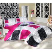 Bavlněné povlečení Sedef růžová, 140 x 200 cm, 70 x 90 cm