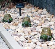 Solární osvětlení želvy 3 ks