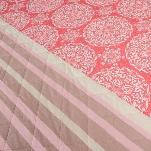 Prehoz na posteľ Morbido lososová, 160 x 220 cm