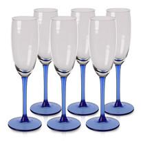 6-częściowy komplet kieliszków do szampana Blue, 330 ml