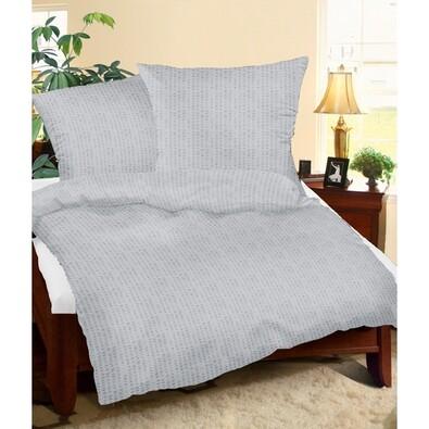 Lenjerie pat 2 pers. gri, creponată , 240 x 200 cm, 2 buc. 70 x 90 cm