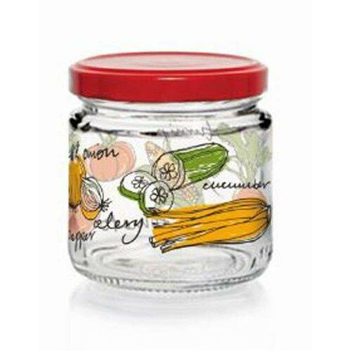 Zavařovací sklenice s víčkem ZELENINA 100 ml, 12 ks