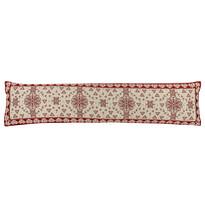 Dekoracyjny wałek uszczelniający na okno Serduszka czerwony, 90 x 20 cm