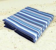 Skládací plážové lehátko, modrá