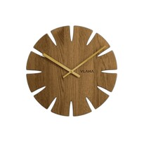 Ceas de stejar Vlaha VCT1013, diam. 32,5 cm, auriu