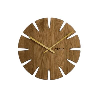 Vlaha VCT1013 Dubové hodiny pr. 32,5 cm, zlatá