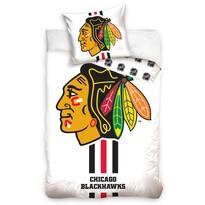 Lenjerie de pat NHL Chicago Blackhawks White, din bumbac, 140 x 200 cm, 70 x 90 cm