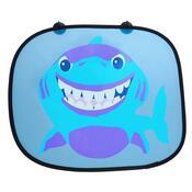 Sluneční clona Žralok modrá, 2 ks