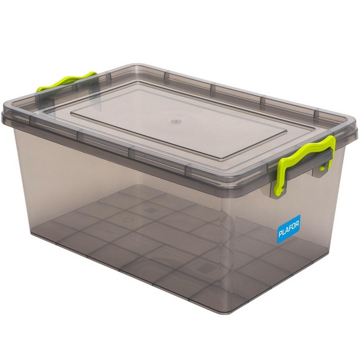 Aldotrade Plastový úložný box 5 l, šedá