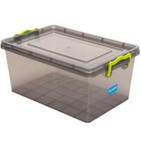 Plastový úložný box 5 l, sivá