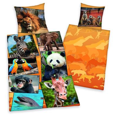 Dětské bavlněné povlečení Zoo, 140 x 200 cm, 70 x 90 cm