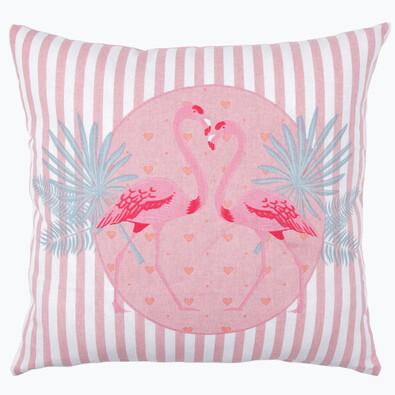 Faţă de pernă Flamingo roz, 40 x 40 cm