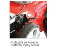 Benzínová rotační sekačka s pojezdem ABG 485 3 v 1, červená
