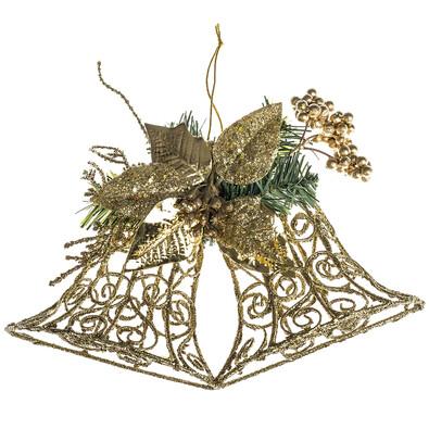 Nástěnná dekorace zvony 30 cm, zlatá