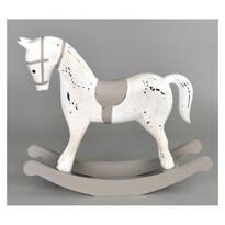 Dřevěná dekorace Houpací kůň 26,5 x 23 cm, bílá