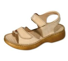 Orto Plus Dámské sandály se suchými zipy vel. 42 béžové