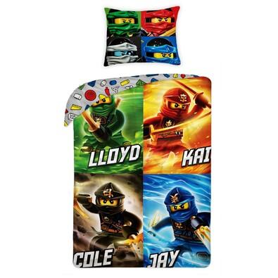 Dětské bavlněné povlečení Lego Ninjago II, 140 x 200 cm, 70 x 90 cm