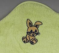 Froté dětská osuška s kapucí zelená, 75 x 75 cm