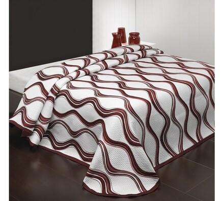 Přehoz na postel Airosa, bordo, 160 x 220 cm
