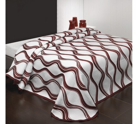 Přehoz na postel Airosa, bordo, 240 x 260 cm