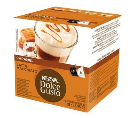 Kapsle Dolce Gusto, Latte Macchiato Caramel, 16 ks