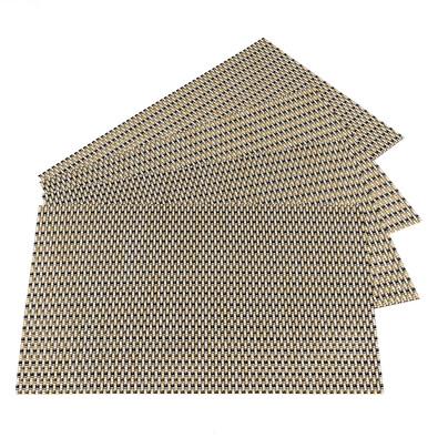 Prostírání béžová s černým prošitím, 45 x 30 cm, sada 4 ks