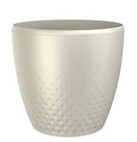 Perla műanyag kaspó, 16 cm, gyöngyház