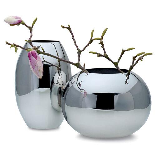 Váza Orb 22 cm, stříbrná