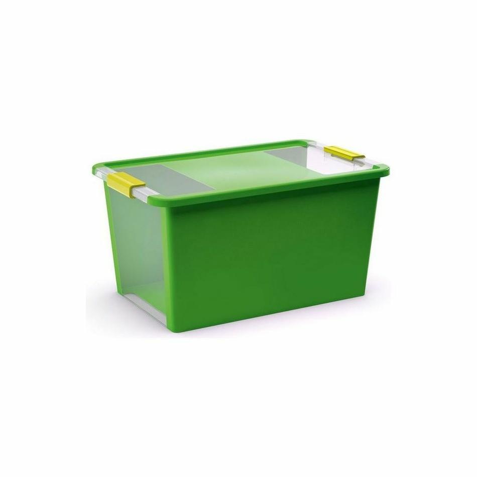 Bi box L 40 litrov kombinácia priehľadná/zelená farba