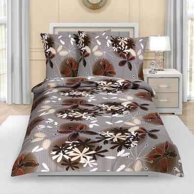 Lenjerie de pat din crep Flori de vară, 140 x 200 cm, 70 x 90 cm