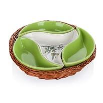 Banquet 4dílná servírovací miska v košíku Olives