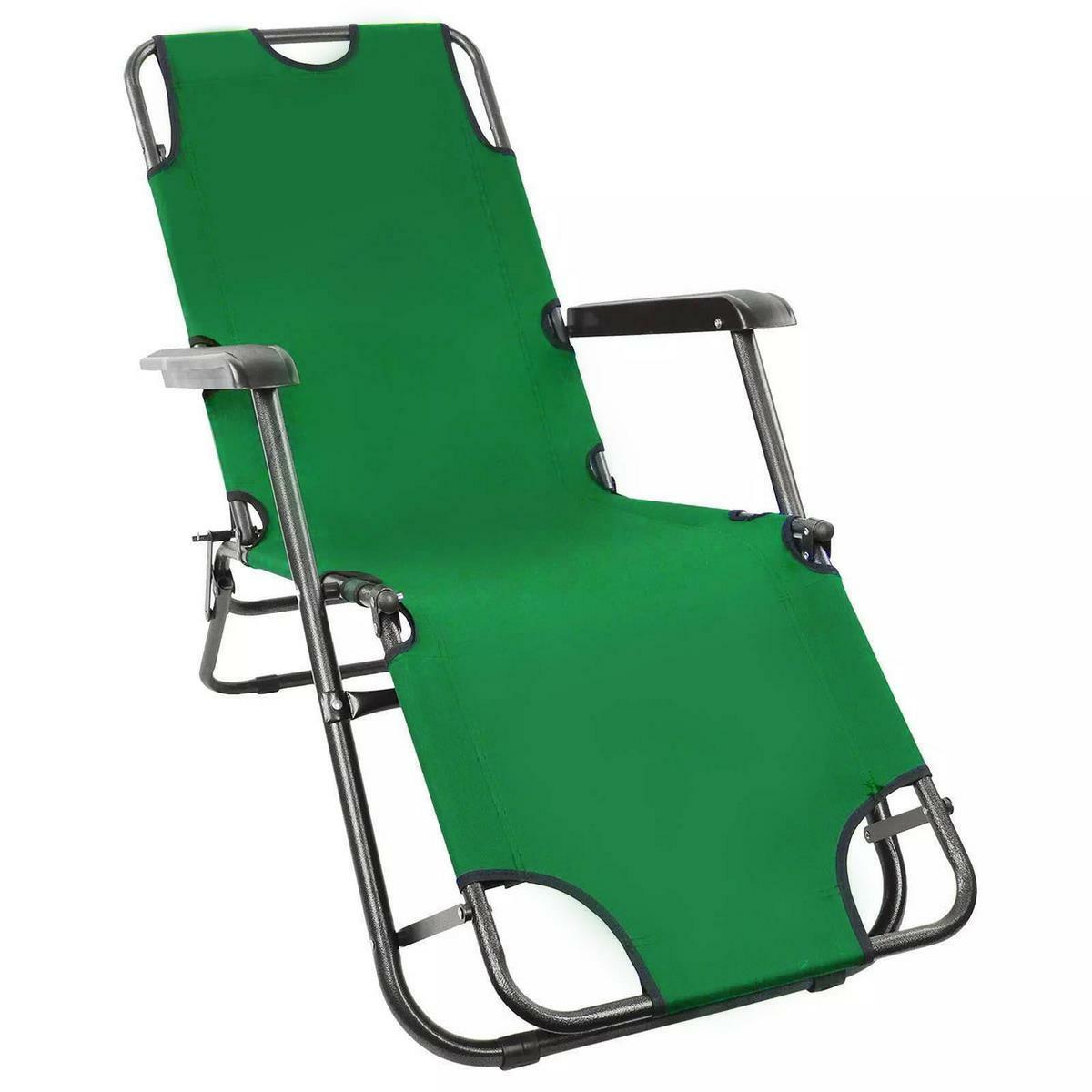 ISwing Polohovacie záhradné a plážové ležadlo Comfort, zelená, 153 x 60 x 80 cm