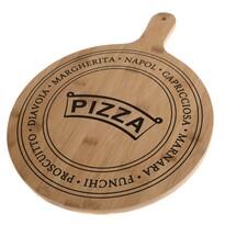 Pizza szervírozó bambusz vágódeszka, 40,5 x 31 x 1,5 cm