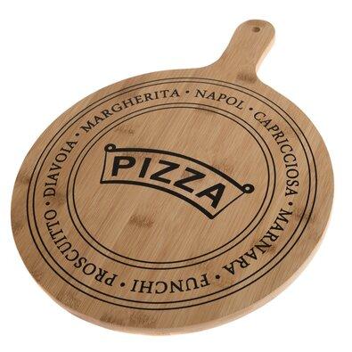 Tocător de servit din bambus Pizza, 40,5 x 31 x1,5 cm