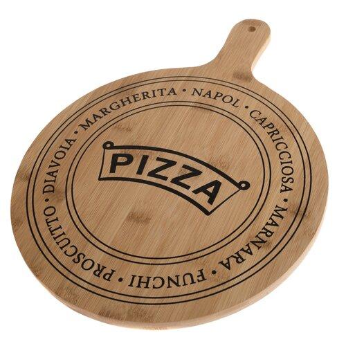 Servírovacia bambusová doštička Pizza, 40,5 x 31 x 1,5 cm