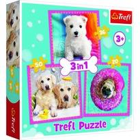 Trefl Puzzle Cățeluși, 3 buc.