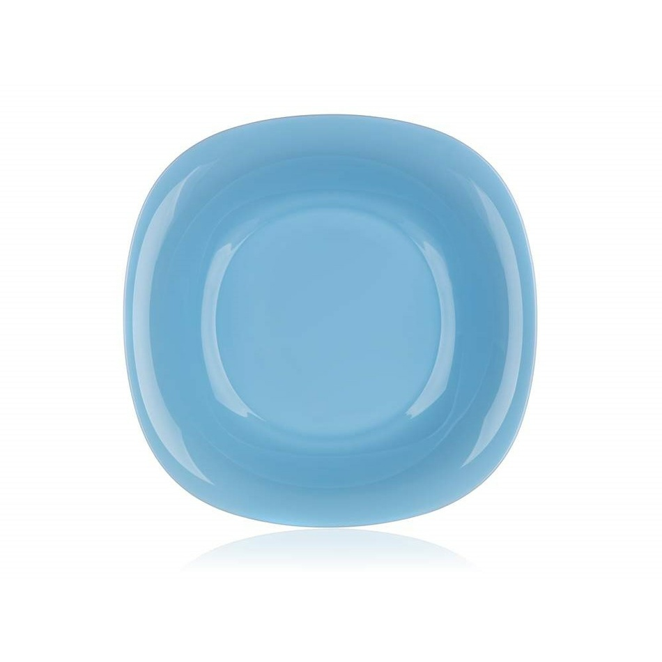 Luminarc Hranatý hluboký talíř CARINE 21 cm, 6 ks, modrá