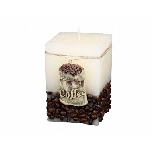 Dekorativní svíčka Coffee Bag béžová, 10 cm