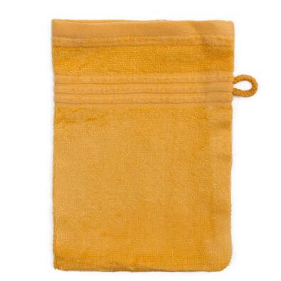 Myjka do kąpieli bambus żółty, 14 x 22 cm