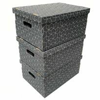 Compactor 3-dielna sada kartónových krabíc, 52 x 29 x 20 cm