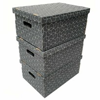 Compactor 3dílná sada kartonových krabic, 52 x 29 x 20 cm