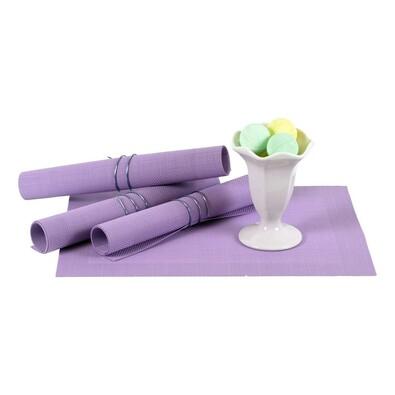 Plastové prostírání fialová, 40 x 30 cm, sada 4 ks