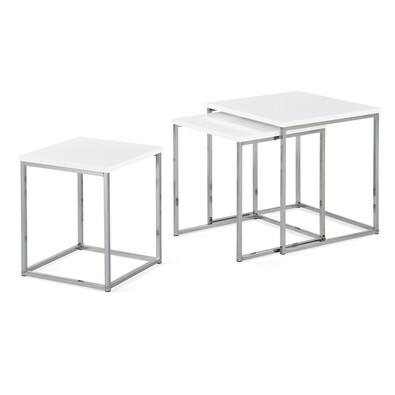 Set 3 ks odkládacích stolků bílý