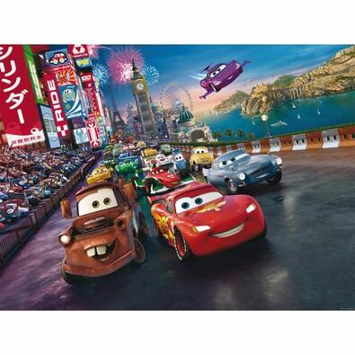 Detská fototapeta XXL Blesk McQueen a jeho priatelia 360 x 270 cm, 4 diely