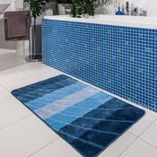Dywanik łazienkowych Elli Fala niebieska, 60 x 100