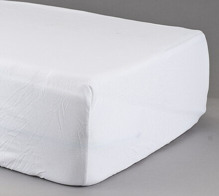 Prostěradlo žerzej, bílé, 2 ks 90 x 200 cm