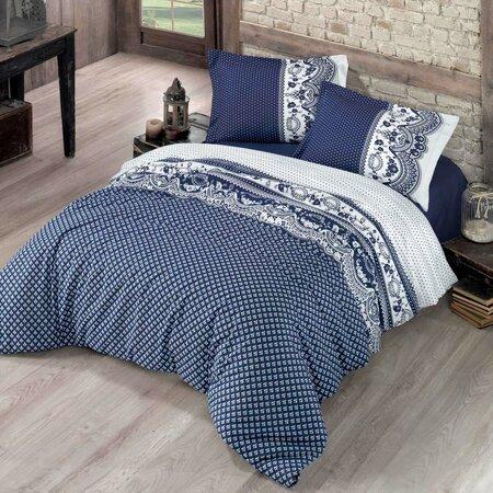 Canzone pamut ágynemű, kék, 200 x 200 cm, 2 db 70 x 90 cm