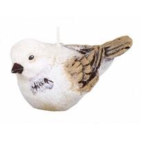 Świeczka dekoracyjna Ptaszek, beżowy