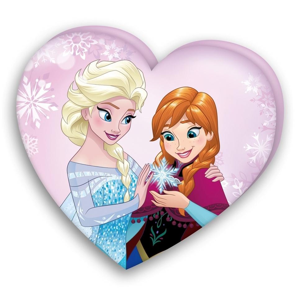 Herding Polštářek Srdce Ledové království Frozen, 32 x 36 cm