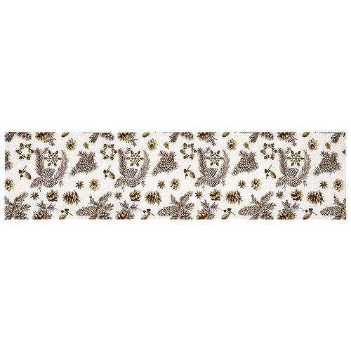 Vianočný behúň Šišky, 33 x 130 cm